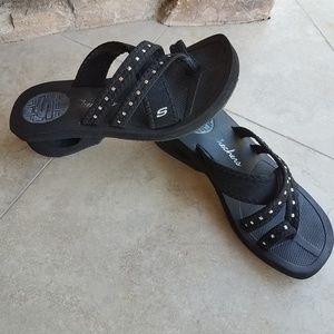 Skechers Black Studded Flip Flop Sandals